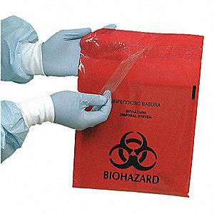 BIOHAZARD BAG,RED,2.6 QT.,PK 100