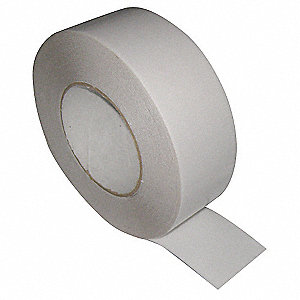 "UPVC Double Sided Tape, Acrylic Adhesive, 8.60 mil Thick, 2"" X 25 ft., White"