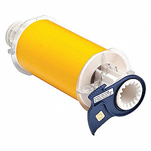 "Yellow Polyester Label Tape Cartridge, Outdoor Label Type, 50 ft. Length, 6"" Width"
