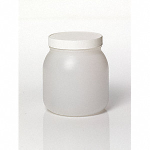 Wide Mouth Round Jar, Plastic, 2000mL, Clear, 24 PK