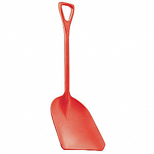 Hygienic Shovel,Red,14 x 17 In,42 In L