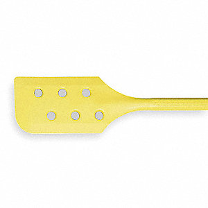 Mixing Paddle,w/Holes,Yellow,6 x 13 In