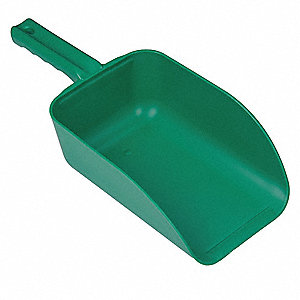 Large Hand Scoop,Green,15 x 6-1/2 In
