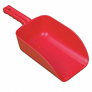 Large Hand Scoop,Red,15 x 6-1/2 In
