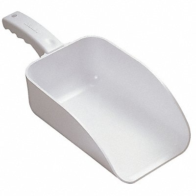 3UE74 - E0612 Large Hand Scoop White 15 x 6-1/2 In