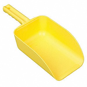 Large Hand Scoop,Yellow,15 x 6-1/2 In