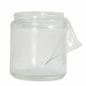 Wide Mouth Straight Side Round Safety Coated Jar, Sampling, Glass, 240mL, Clear, 24 PK