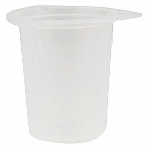 Plastic Disposable Beaker, Low Form, 2 to 100mL, 100 PK