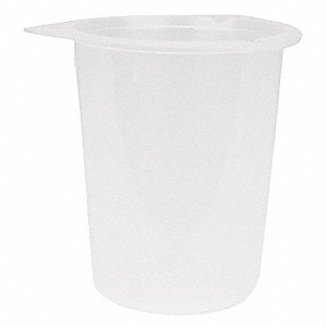 Plastic Disposable Beaker, Low Form, 2 to 800mL, 100 PK