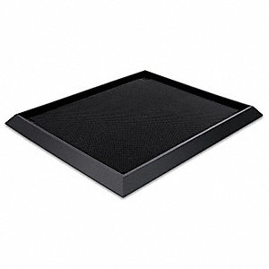 "Footwear Sanitizing Mat, 3 ft. 3"" L, 24"" W, 2-1/2"" Thick, Black"