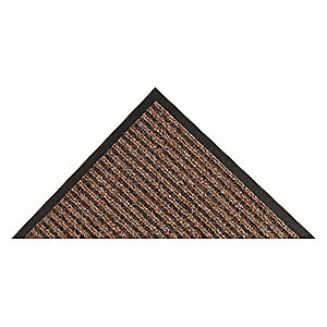 Carpeted Entrance Mat,Brown,4ft. x 10ft.