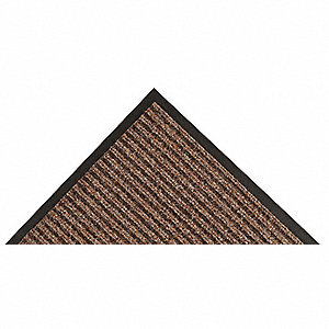 Brown Needle-Punched Yarn, Entrance Mat, 3 ft. Width, 5 ft. Length