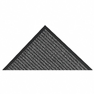Charcoal Needle-Punched Yarn, Entrance Mat, 3 ft. Width, 5 ft. Length