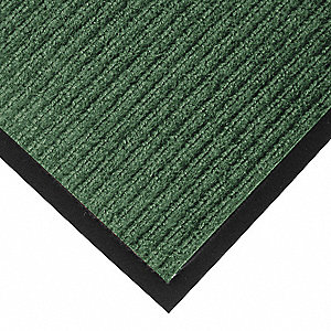 "Indoor Entrance Mat, 5 ft. L, 3 ft. W, 3/8"" Thick, Rectangle, Hunter Green"