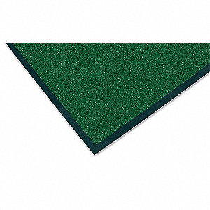 Hunter Green Decalon® Fiber, Entrance Mat, 2 ft. Width, 3 ft. Length