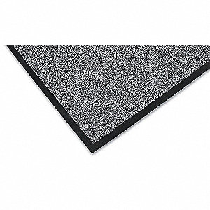 Carpeted Entrance Mat,Charcoal,2ft.x3ft.