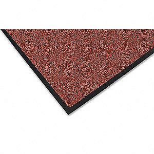 Red/Black Decalon® Fiber, Entrance Mat, 2 ft. Width, 3 ft. Length