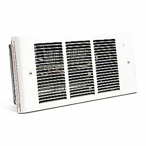Electric Wall Heater, Recessed, 120VAC, Watts 1500/1125/750/375