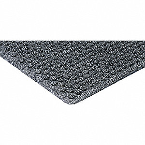 Carpeted Entrance Mat,Gray,3ft. x 4ft.