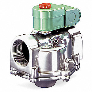 "1-1/2"" Aluminum Fuel Gas Solenoid Valve with Test Port, Normally Open"