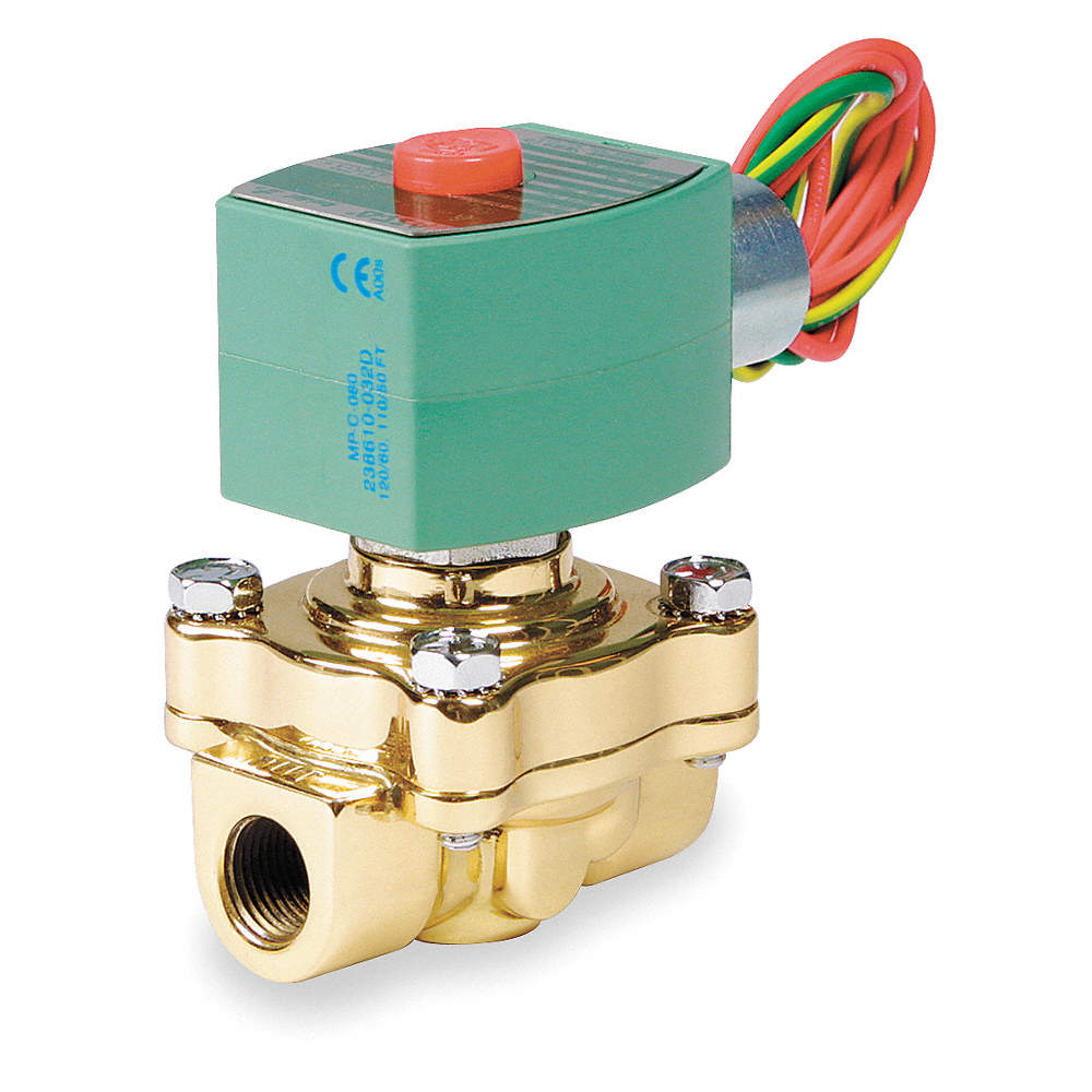 REDHAT Hot Water Solenoid Valve, 2-Way/2-Position Valve Design ...