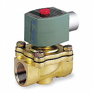 "240/60, 220/50 Brass Solenoid Valve, Normally Closed, 3/4"" Pipe Size"