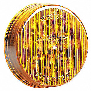 Clearance Light,LED,Amber,2-1/2 In Dia