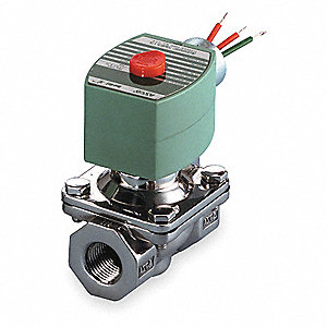 "120VAC Stainless Steel Solenoid Valve, Normally Closed, 3/4"" Pipe Size"