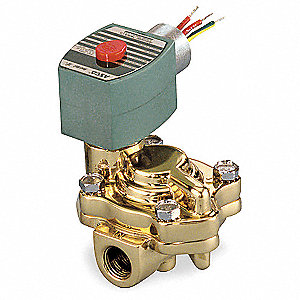 "110/120VAC Brass Slow Closing Solenoid Valve, Normally Closed, 1"" Pipe Size"