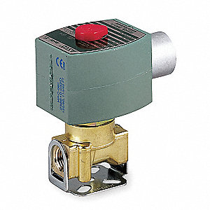 SOLENOID VALVE,2 WAY,NO,BRASS,3/4 I