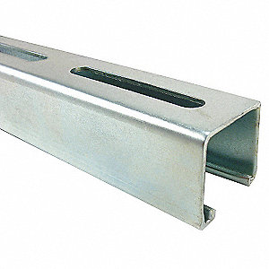 SLOTTED CHANNEL,10 FT,1 5/8 IN D,SS