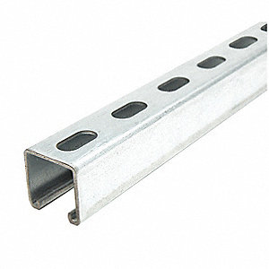"Strut Channel,1-5/8"" W,10 ft. L,Silver"