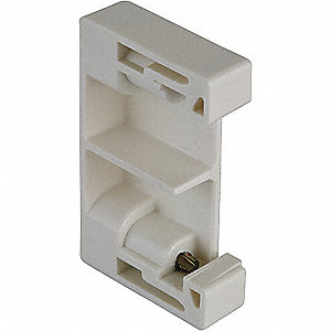Terminal Block Screw-On End Clamp, For Use With 35mm DIN Track, IEC TERMINAL BLOCK