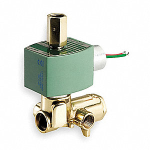 SOLENOID VALVE,4 WAY,BRASS,1/4 IN