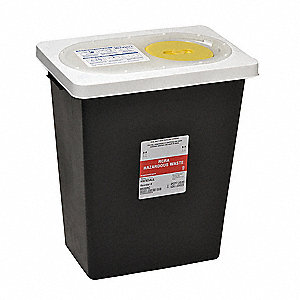 Hazardous Waste Container,17-3/4 In. H