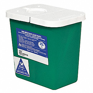 Sharps Container,2 Gal.,Hinged Lid,PK5