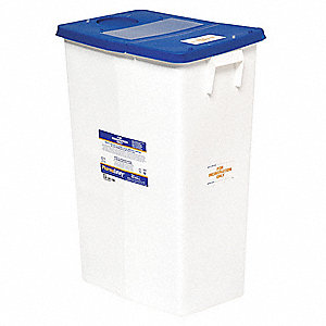 Sharps Container,18 Gal.,Hinged Lid,PK5