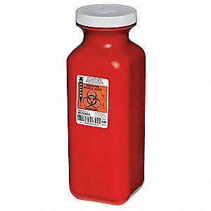 Sharps Container,3/8 Gal.,Screw Lid,PK3