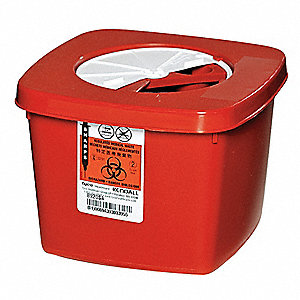 Sharps Container,1/2 Gal.,Rotor Lid,PK5