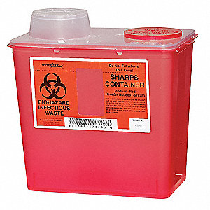 Sharps Container,2 Gal.,Chimney Top,PK5