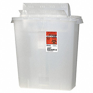 Sharps Container,3 Gal.,Open Lid,PK2
