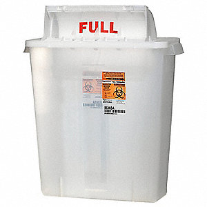 Sharps Container,3 Gal.,Red,PK5