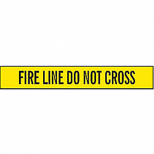Barricade Tape, Fire Line Do Not Cross