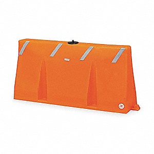 Polycade Traffic Barrier,Yellow,35 In. H