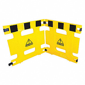 Barricade,2 Panel,72 In Length,Yellow