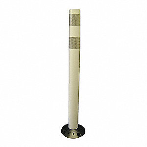 "Delineator Post, 28"" Delineator Height, White, Polyurethane, 1 EA"