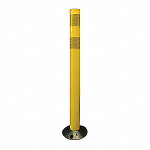 "Delineator Post, 28"" Delineator Height, Yellow, Polyurethane, 1 EA"