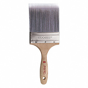 "4"" Wall Polyester/Nylon Paint Brush, Firm, for All Paint & Coatings"