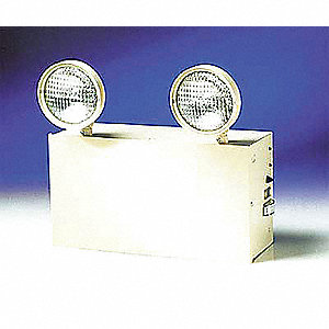 "13-1/2"" x 11-1/2"" Incandescent Emergency Light, Wall Mounting"