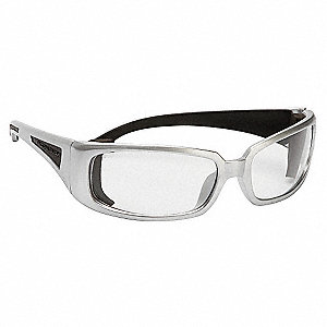 V-Line Plus Uncoated Safety Glasses, Clear Lens Color